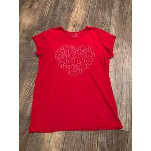 PINK Victoria secret love t-shirt